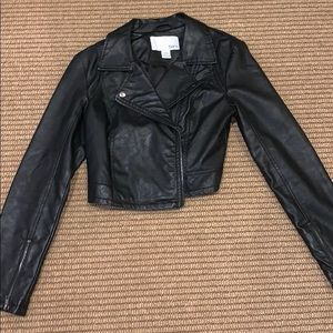 Size small black faux leather Bar III jacket